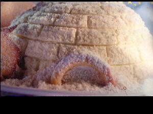 buche végétarienne en forme d'igloo pour l'atelier de cuisine de Nandini Yoga