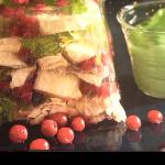 terrine végétarienne revissée au tofu et aux airelles
