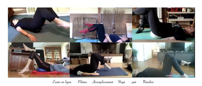 Cours en ligne de yoga et Pilates par yoganandini.com